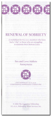 Renewal of Sobriety