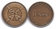 10-Year Bronze Medallion