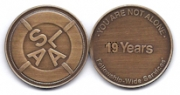 19-Year Bronze Medallion