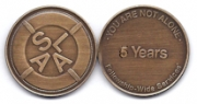 5-Year Bronze Medallion