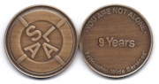 9-Year Bronze Medallion