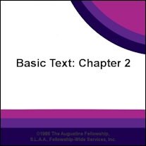 Basic Text Chapter 2: Beginning of Recovery [CD]
