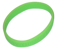 Carry the Message Wrist Band, Lime Green