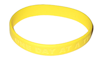 One Day at a Time Wrist Band, Sunny Yellow