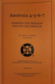 Anorexia 4-5-6-7: Working the Program and Not the Problem